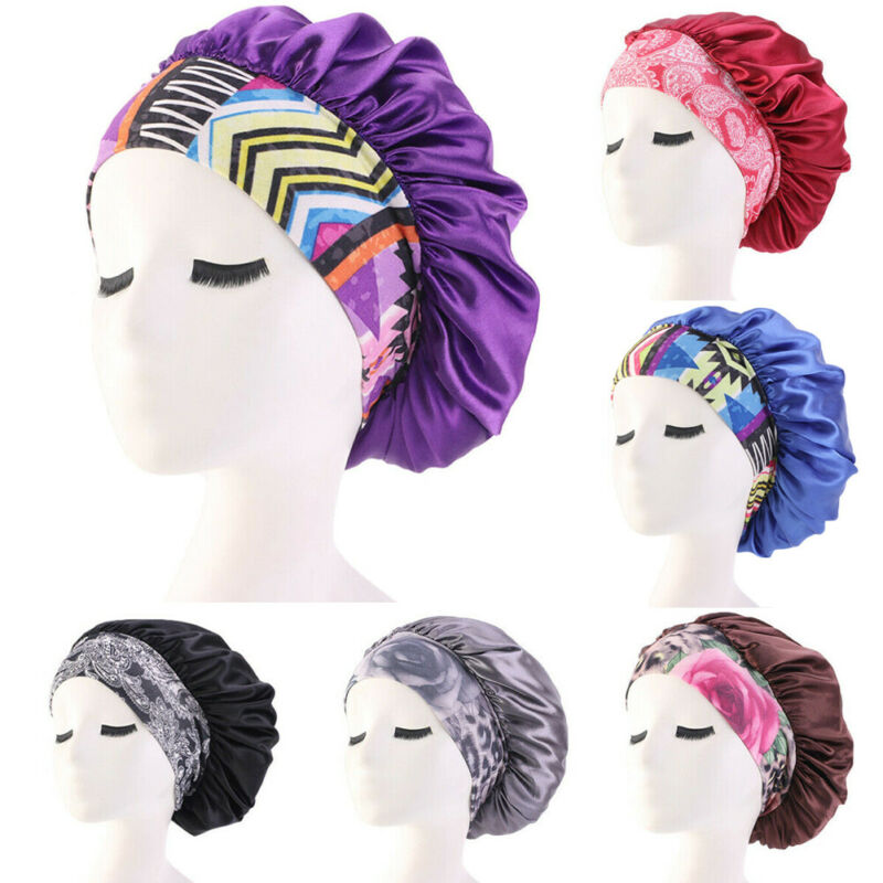 Satin Night Sleep Cap Women Fizzy Hair Care Bonnet Sleeping Hat Head Cover Wrap Wholdsale Dropshipping