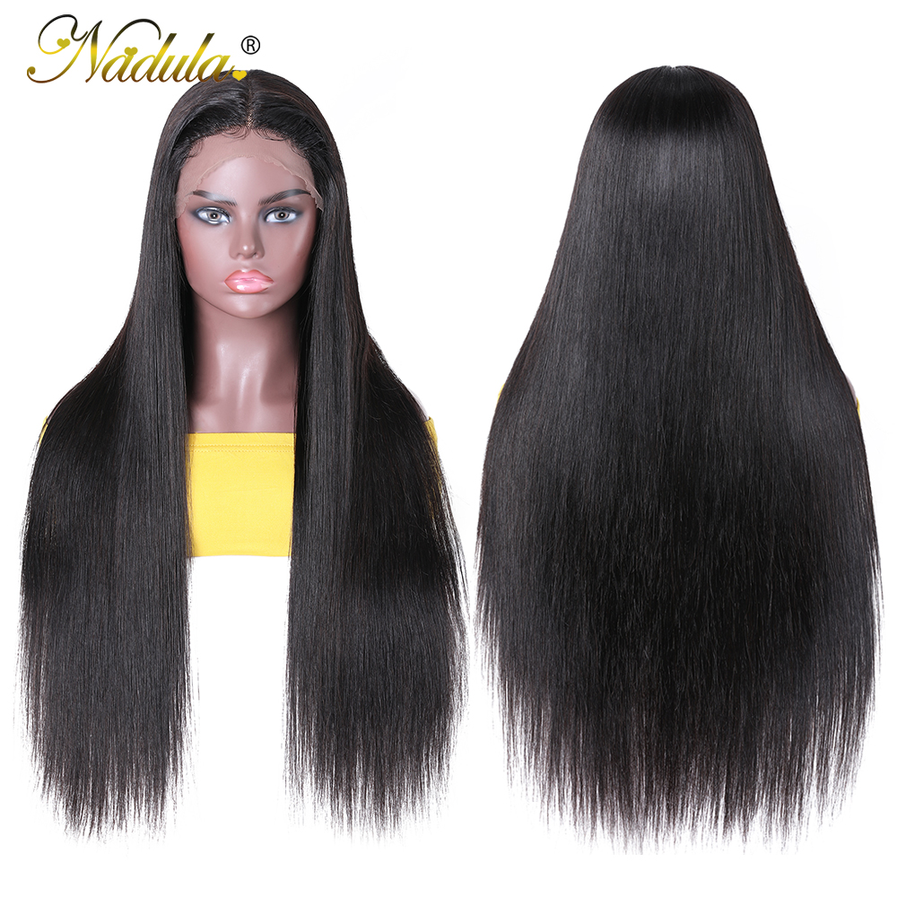 Nadula Straight Hair Deep Part Lace Frontal Wigs 13X1  Lace Front Wig T PART Lace Front Pre plucked Wigs 150 Density 4