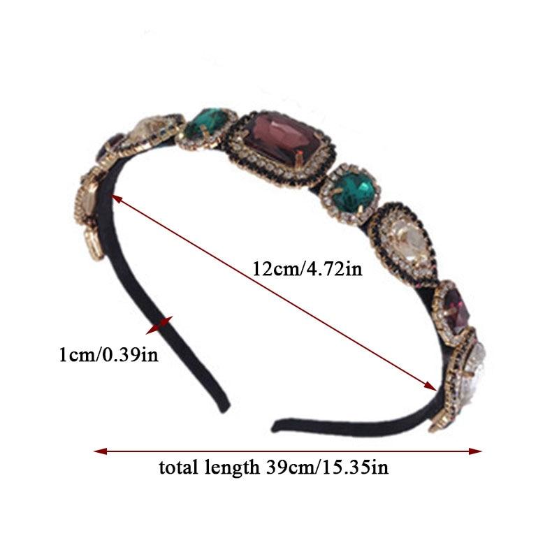 Купить разноцветные ободки в стиле барокко винтажный сплав с кристаллами