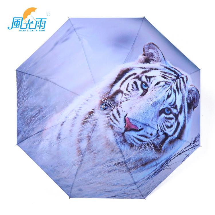 Umbrella lolg Pattern Image Customizable Advertisement Silver Colloid Parasol Illustration Folding Umbrella Manufacturers Wholes