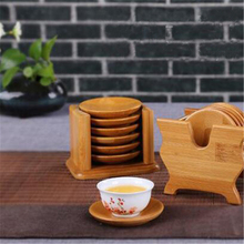 Bamboo Coaster And Holder Set Non-slip Heat-resistant Drinking Cup Mat Home Office Meeting Room Accessories Classic Tea Set