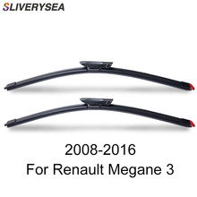 SLIVERYSEA Wiper Blades for Renault Megane 3 2008-2016 High Quality Natural Rubber Car Windshield Accessories цена 2017