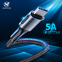 5A USB Type C Cable For Huawei P20 Lite Honor 20 10 9 Pro 3.1 Fast Charging Data Cord For Xiaomi Redmi Note 8 7 Pro Type-C Cable