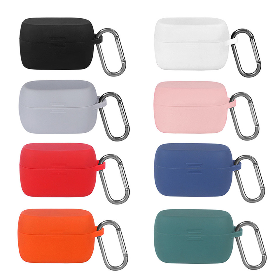 Soft Silicone Earphone Case For Jabra Elite Active 75t Headset Accessories Shockproof Protective Headphones Storage Case Cover Earphone Accessories Aliexpress