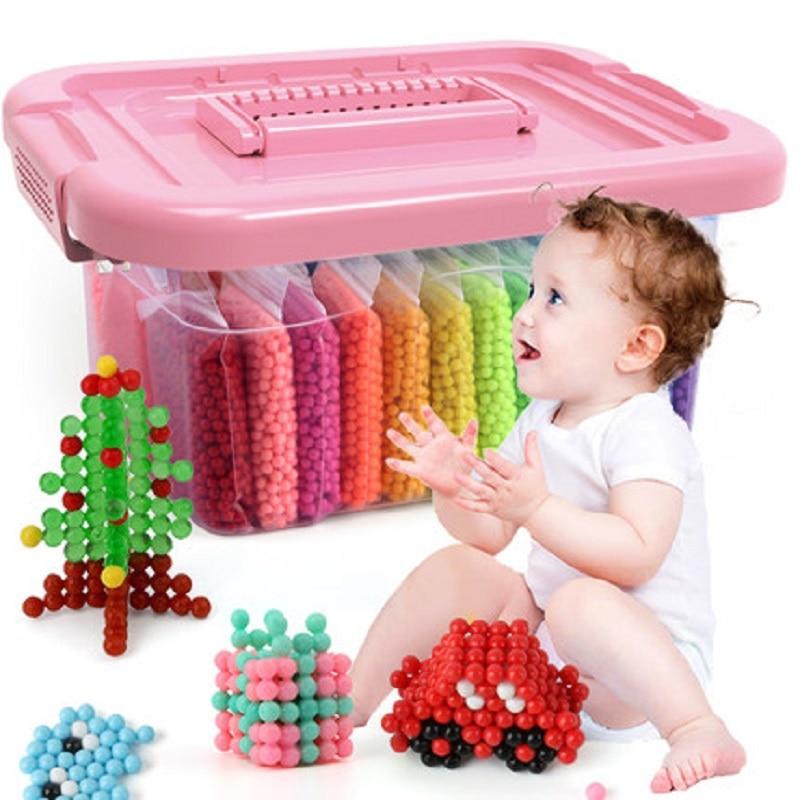 Montessori Education Brain Creative Magic Box Kids Children Handmade Diy Water Beads Toys For Baby Girls Boys 3 5 7 8 Years