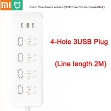 מקורי Xiaomi Mijia כוח רצועת 4 שקעי 4 שליטה יחידה מתגים 5V/2.1A 3 USB יציאת הארכת שקעי מטען 2m כבל