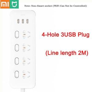 Image 1 - מקורי Xiaomi Mijia כוח רצועת 4 שקעי 4 שליטה יחידה מתגים 5V/2.1A 3 USB יציאת הארכת שקעי מטען 2m כבל