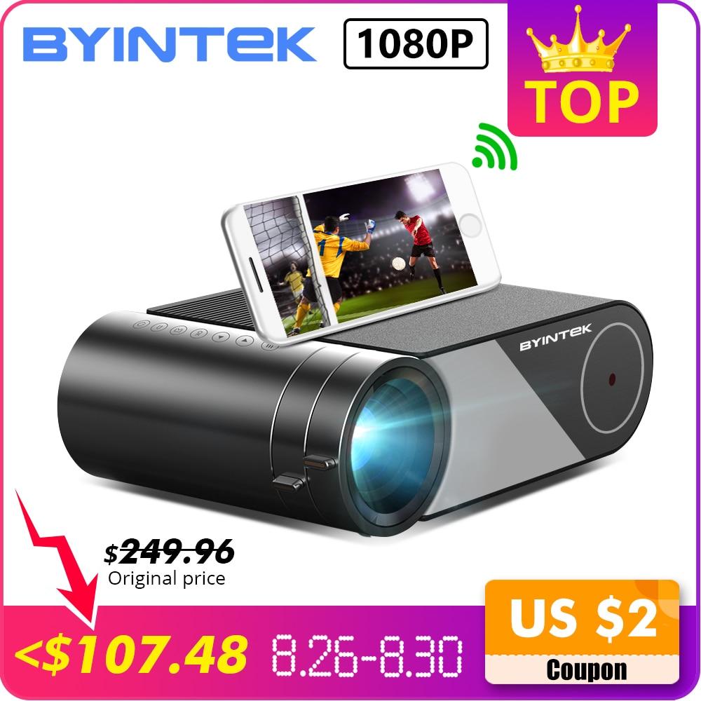 BYINTEK CÉU K9 720P 1080P LED Portátil Home Theater Mini Projetor HD (Opção Multi-Tela Para iphone Ipad Tablet Telefone Inteligente)