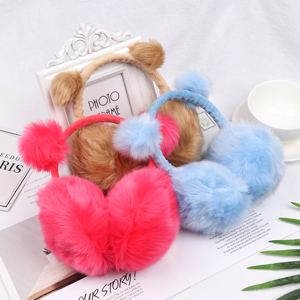 1Pcs Mujer Warm Winter Earmuffs For Children Imitation Rabbit Fur Ear Muffs Girls Boys Baby Adult Plush Earcap Warm Ear Cover