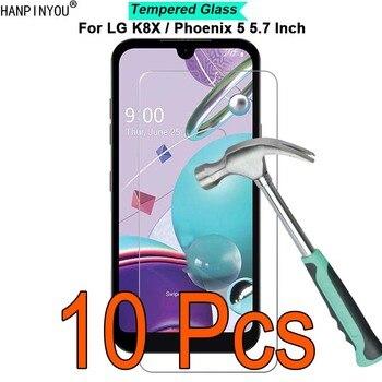 Перейти на Алиэкспресс и купить 10 шт./лот для LG K8X / Phoenix 5 5,7 дюйм9H твердость 2.5D ультратонкая закаленная защитная пленка из закаленного стекла