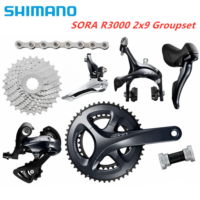 Shimano SORA R3000 2x9 Speed  Road  Groupset Bike Bicycle Groupset Bicycle Parts 2X9S