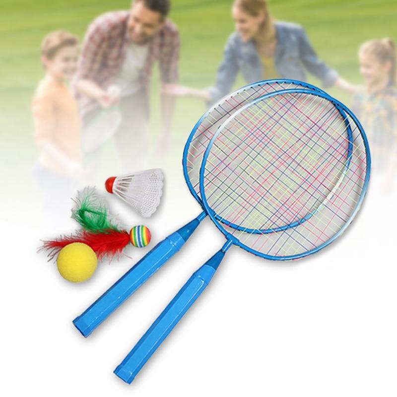 Newly 1 Pair Children Tennis Badminton Rackets Ball Set Sports Family Game Toy Kids Badminton Rackets S66