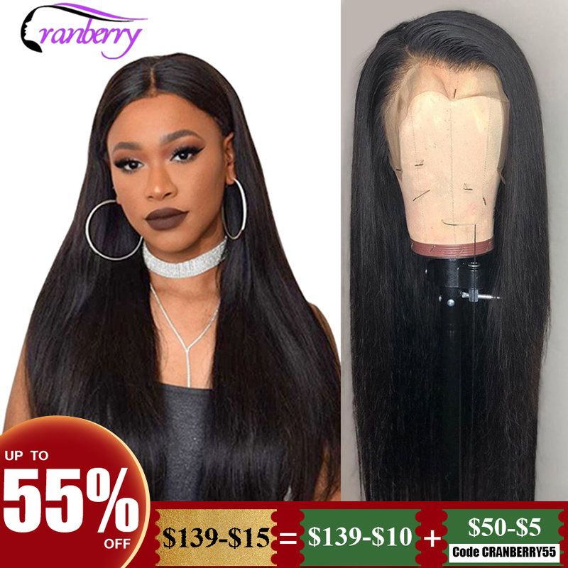 Cranberry Straight Lace Front Human Hair Wigs Pre Plucked Hairline 150% Density 13x6 Lace Front Wig Brazilian Wig Remy Hair Wigs