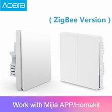 원래 Aqara Mijia 스마트 홈 조명 제어 단일 제로 와이어 ZigBee 무선 키 벽 스위치 스마트 폰 app를 통해