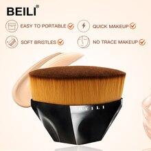 BEILI 1 adet yüz profesyonel makyaj fırçaları sentetik saç vakıf kozmetik BB krem makyaj fırça