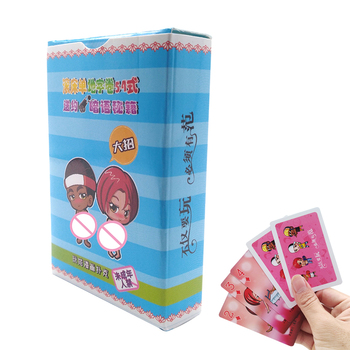 Adult Games Playing Cards Cartoon 54 Sex Pose Sexy Posture Bar Game Erotic Love Toys for Couples Gift Sex Product Shop