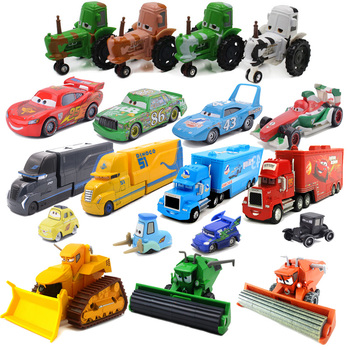 1 55 Metal Diecast pojazdy samochody disney pixar 2 3 błyskawica aMcqueen Jackson pojazd ciężarowy wszystkie ciągniki Frank samochód dzieci zabawki prezenty tanie i dobre opinie 3 lat Certyfikat CARS 2 3 Inne