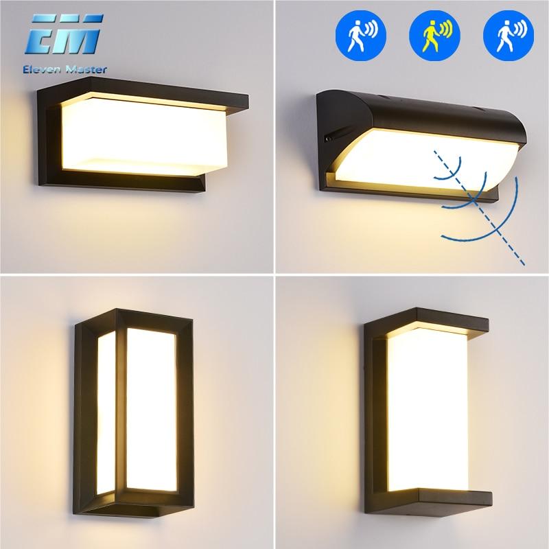 18 Вт/30 Вт настенный светильник, уличный Водонепроницаемый светодиодный настенный светильник, радар, датчик движения, AC90 260V, Алюминиевый, для сада, крыльца, настенный светильник ZBW0001