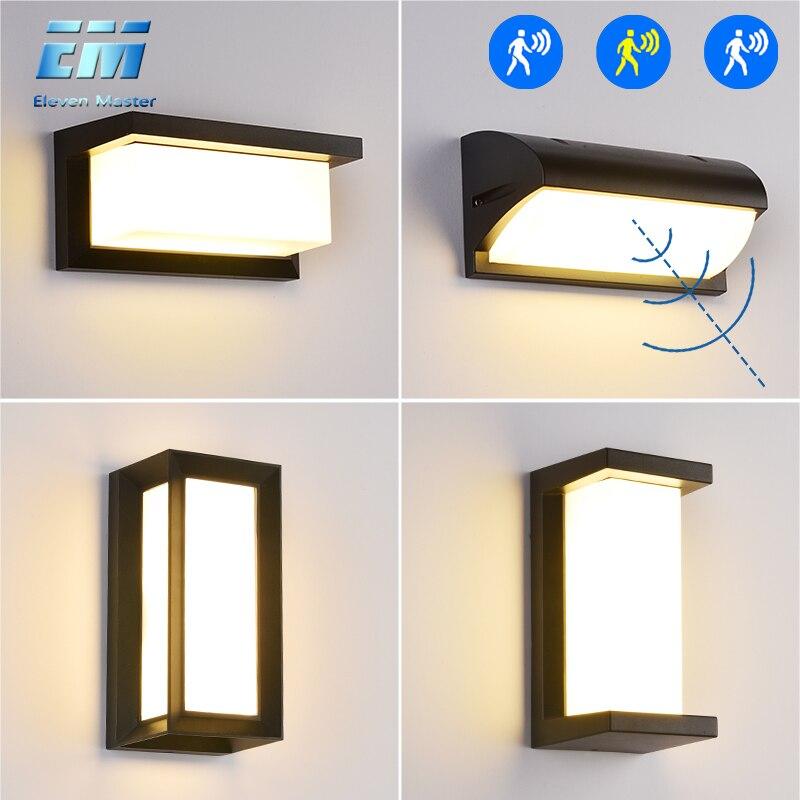 18W/30W Wall lamp Outdoor Waterproof LED Wall light Radar Motion Sensor AC90 260V Aluminum Garden Porch Lights wall lamp ZBW0001