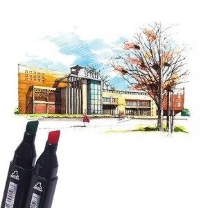 TOUCHFIVE 30/40/60/80/168 цвета художественные маркеры кисть авторучка эскиз маркеры на спиртовой основе двойная голова манга ручки для рисования тов...