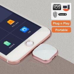 Supersonik Logam OTG USB Flash Drive 32GB 128GB 256GB Flashdisk Penyimpanan Eksternal untuk iPhone X 8 7 plus 6 6 S PLUS 5S 5 iPad Macbook