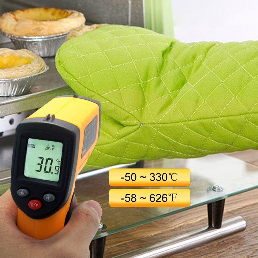 Nouveau haute qualité Portable sans Contact LCD IR Laser infrarouge numérique température thermomètre pistolet Portable thermomètre