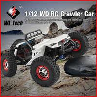 Ad alta Velocità Wltoys 12429 1/12 2.4G 4WD40km/h Off-Road On-Road Radio Control RC Auto buggy Con La Testa di Luce