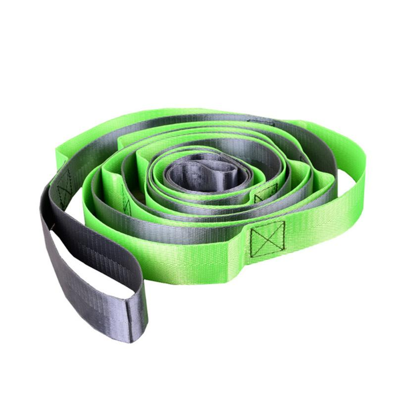 Yoga Stretch Strap 12 Loops Stretching Belt For Aerial Swing Fitness Exercise Gym Figure Waist Leg Resistance Bands Yoga Belt