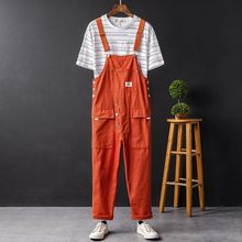 Hip Hop Harajuku Vintage Nieuwe Mens Losse Mouwloze Jarretel Cargo Broek Casual Zakken Male Jumpsuits Plus Size S-5XL(China)