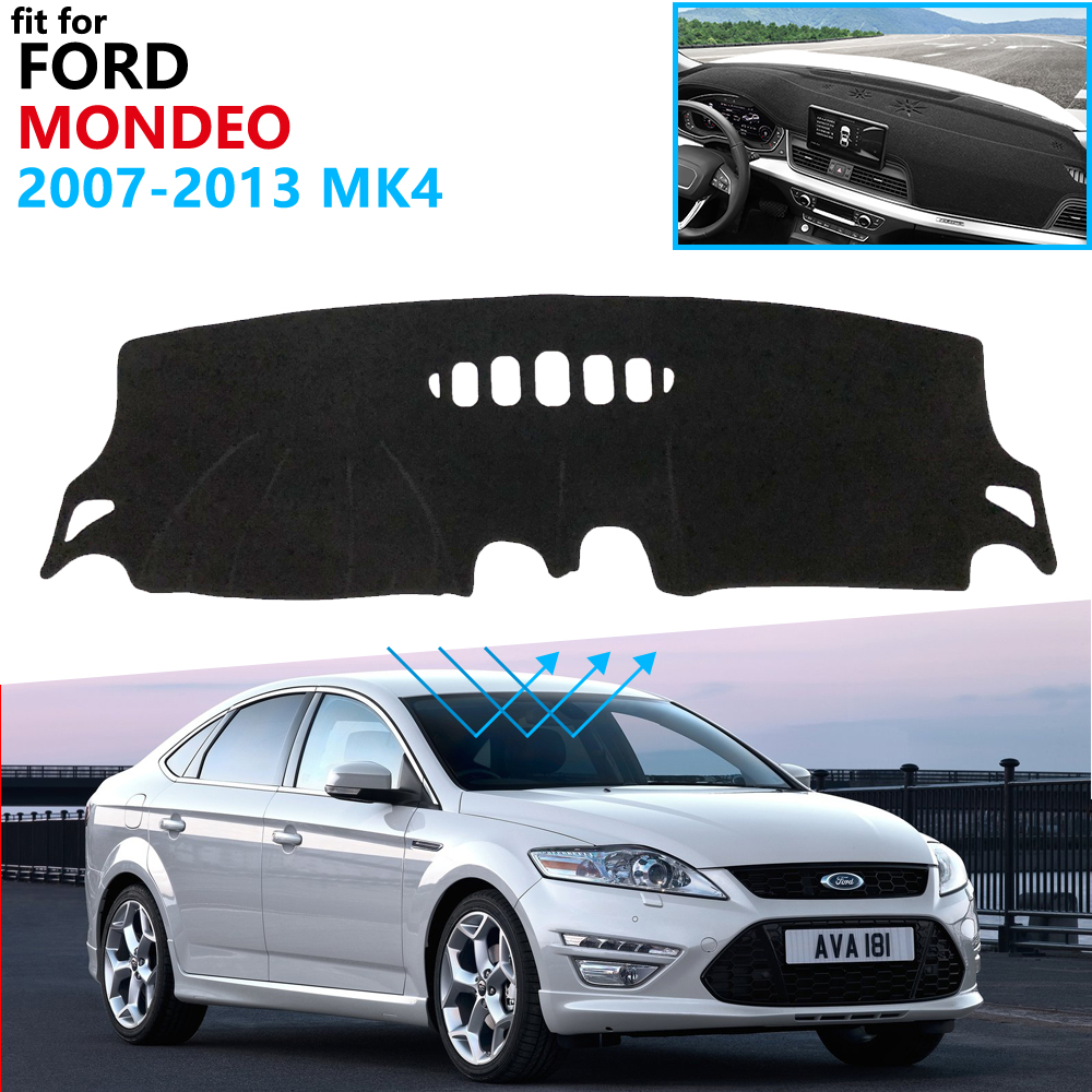 Perfect Fit Black Carpet Car Mats for Ford Mondeo MK4 07/> White Leather Trim