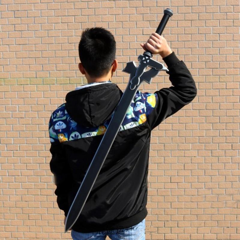 80cm Kirigaya Kazuto Elucidator Sword Art Online SAO 1: 1 Sword Action Figure Weapon Asun Repulsor Dark Sword Cosplay PU Kids