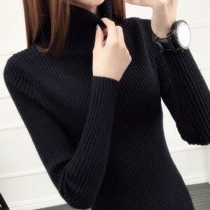Image 5 - Camisola de camisola completa real novo estilo outono e inverno 2020 jaqueta de estilo curto com colo interno mais grosso de manga comprida de malha inferior