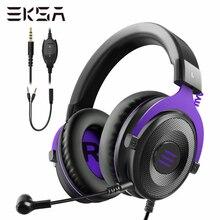 EKSA מקצועי משחקי אוזניות E900 סטריאו Wired משחק אוזניות אוזניות גיימר עם מיקרופון עבור PS4/Smartphone/Xbox/מחשב