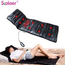 Elektryczny wibrator ogrzewanie powrót masażer szyi materac noga talia poduszka mata Home Office Relax łóżko ulgę w bólu opieka zdrowotna