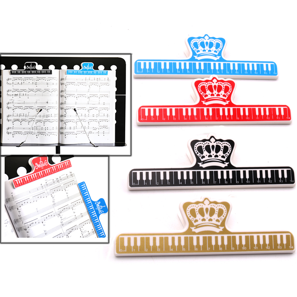 Plastic Music Note Book Score Page Holder Clips Music Stand Parts