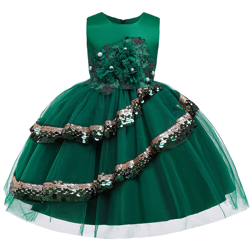 Summer Children's Party Clothing Girl Ball Gown Wedding Clothes First Communion Princess Dress Kids Ball Gown Costume Vestido