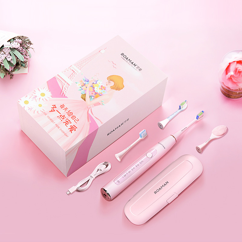 ROMAN Electric Toothbrush Cleansing Face Combination Household Waterproof Soft Tooth Soni Automatic Cleansing Instrument