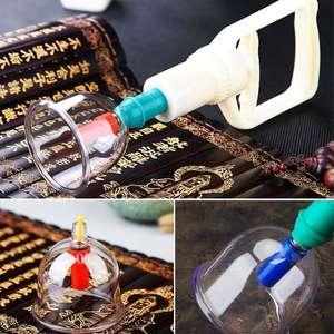 Image 5 - 12/24 peças de vácuo cupping corpo massageador ventosas conjunto frasco plástico terapia sucção a vácuo cupping conjunto latas para massagem