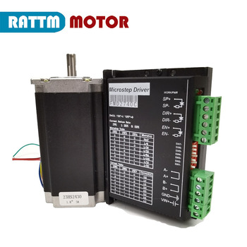 Nema 23 Stepper motor set with driver 112mm 425 Oz-in, 3A 23HS2430 stepping motor & FMD2740C driver image