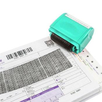 Tożsamość ochrona prywatności rolka znaczek ID osłona przenośna informacja pokrycie niechlujny kod ochrona danych pieczęć zabezpieczająca tanie i dobre opinie CN (pochodzenie) Rolling Stamp Roller stamp RUBBER Dekoracji