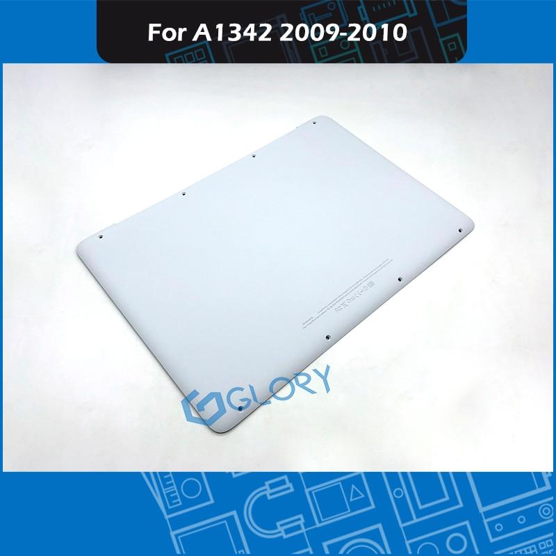 """Full New A1342 White Lower Bottom Case Cover For Apple MacBook A1342 13"""" Unibody 604-1033 2009 2010 MC207 MC516 EMC 2350 EM2395"""