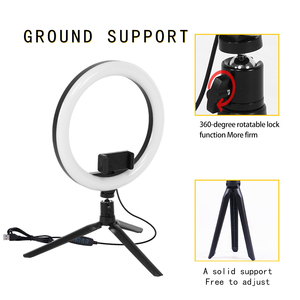 Image 1 - Table Ring Lamp 10 inch  LED Ring Light  Photography Photo Camera Lights with Tripod Holder for Smartphone Vlog Makeup