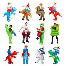 Erwachsene Kinder kuh Aufblasbare kostüm Alien Santa Claus cosplay Kostüme Halloween Weihnachten Party Overall Dropshipping