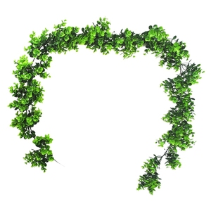 Artificial Vines 6.2 Ft Fake Eucalyptus Leaves Garland Faux Hanging Vine Greenery Boxwood Twigs for Indoor Outdoor Wedding Backd|Artificial Plants|   -