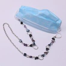 Роскошная Черная фиолетовая Асимметричная каменная маска цепочка