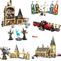 New 900PCS Movie PotterSets Model Building Kits Magic Castle Hall Blocks Toys With Christmas