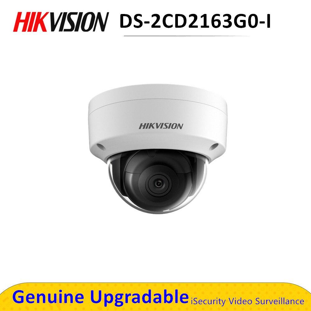Hikvision – caméra de surveillance dôme réseau 6mp, DS-2CD2163G0-I DS-2CD2163G0-IS, POE H.265, fente pour carte SD, IR 30m, remplace le modèle DS-2CD2185FWD-I