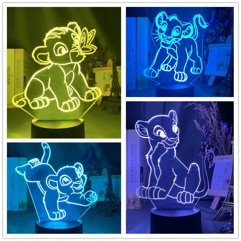 Disney 3D лампа с принтом