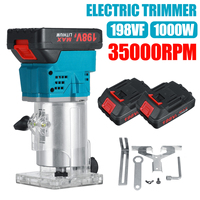 Recortadora eléctrica de madera 198VF 35000r/min MPT, fresadora de madera para carpintería, recortadora manual eléctrica, enrutador, juego de juntas de bordes
