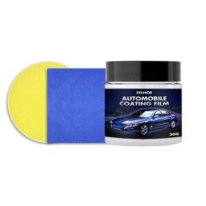 Восковое покрытие для авто 30 г/60 г, водонепроницаемая пленка, глянцевая кристаллическая слойная краска, наборы покрытий с губчатой салфеткой, восковое покрытие для автомобиля|Губки для ваксы|   | АлиЭкспресс